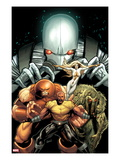 Thunderbolts 151 Cover: Luke Cage, Juggernaut, Moonstone, Man-Thing, and Ghost Posing Poster by Greg Land