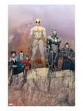 Iron Man 2.0 6: Iron Fist, War Machine Print by Ariel Olivetti