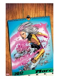 Thunderbolts 171 Cover: A Calendar with Songbird Prints by Kev Walker