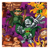 Marvel Super Hero Squad: Loki, M.O.D.O.K, Dr. Doom, and Juggernaut Posing Art