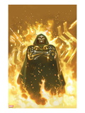 FF 2 Cover: Dr. Doom Standing in Flames Prints by Daniel Acuna