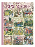 The New Yorker Cover - December 29, 1945 Regular Giclee Print by Ilonka Karasz