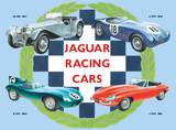 Jaguar Collage Tin Sign