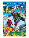 Amazing Spider-Man No.122 Cover: Spider-Man, Gwen Stacy, and Green Goblin Flying Poster