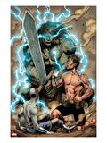 Incredible Hulks No.616: Bruce Banner and Skaar Posing Prints by Barry Kitson
