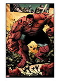 Hulk No.42: Panels with Red Hulk  Smashing and Screaming Posters by Patrick Zircher