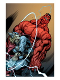Hulk No.26 Cover: Rulk and Thor Fighting Art by Ed McGuinness
