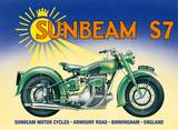 Sunbeam S7 Tin Sign