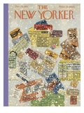 The New Yorker Cover - December 28, 1957 Premium Giclee Print by Ilonka Karasz