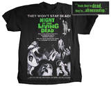 Night of the Living Dead - Movie Poster Magliette