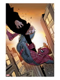 The Amazing Spider-Man No.675 Cover: Spider-Man and Vulture Fighting between City Buildings Prints by Camuncoli Giuseppe