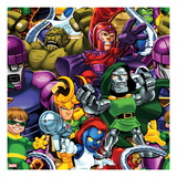 Marvel Super Hero Squad: Sentinel, Abomination, Magneto, Super Skrull, Loki, Dr. Doom, and Mystique Prints
