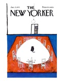 The New Yorker Cover - January 23, 1971 Regular Giclee Print by Ronald Searle