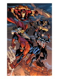The Amazing Spider-Man 648: Spider-Man, Captain America, Thor, Iron Man, Wolverine, and Hawkeye Prints by Humberto Ramos