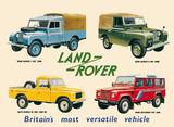 Land Rover Collage Emaille bord