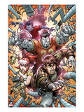 X-Campus 4 Cover: Wolverine, Rogue, Colossus, and Nightcrawler Charging Posters by Todd Nauck