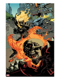 Ultimate Avengers 2 No.6: Ghost Rider Flaming Poster by Leinil Francis Yu