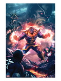 The Thanos Imperative 3 Cover: Thanos Screaming Prints by Aleksi Briclot