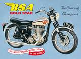 Bsa Goldstar Tin Sign