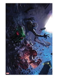 Thunderbolts 147 Cover: Juggernaut, Moonstone, Ghost, and Man-Thing Running Posters par Marko Djurdjevic