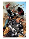 Secret Warriors No.18: Nick Fury, Captain America, Dum Dum Dugan Prints by Jim Cheung