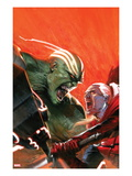 Fear Itself: Hulk vs Dracula No.1 Cover: Hulk and Dracula Fighting and Screaming Print by Gabriele DellOtto