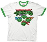 Teenage Mutant Ninja Turtles - 8-Bit Faces T-shirts
