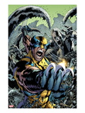 Wolverine: The Best There is No.10 Cover: Wolverine Screaming and Fighting Prints by Bryan Hitch