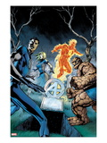 Fantastic Four 583 Cover: Mr. Fantastic, Invisible Woman, Thing, and Human Torch Standing Poster by Alan Davis