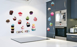Cup Cakes Wall Decal Sticker Wall Decal