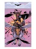 New Mutants No.30: Moonstar Riding Print by David LaFuente