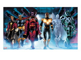 The Thanos Imperative 3: Quasar, Beta-Ray Bill, Gladiator, Nova, Silver Surfer, Ronan the Accuser Print by Miguel Angel Sepulveda