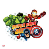 Marvel Super Hero Squad Badge: Ant-Man, Captain America, Hulk, and Iron Man Flying Prints