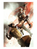 X-Men 2 Cover: Wolverine and Blade Fighting Prints by Adi Granov