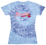 Juniors: MLB: Braves Spiral (Burnout) Shirts