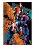 FF No.10: Thing, Captain America, Hawkeye, and Iron Man Prints by Barry Kitson
