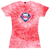 Juniors: Phillies Spiral (Burnout) T-Shirt