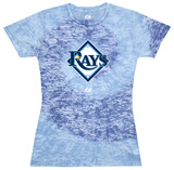 Juniors: Devil Rays Spiral (Burnout) T-Shirt