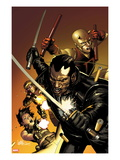 Ultimate Avengers 3 No.1 Cover: Blade, Black Widow, Daredevil, and Hawkeye Posing with Weaponry Affischer av Leinil Francis Yu