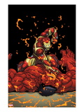 Hulk No.25 Cover: Iron Man and Rulk Fighting Posters by Ed McGuinness