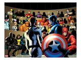 FF No.11: Mr. Fantastic, Captain America and Others Print by Barry Kitson