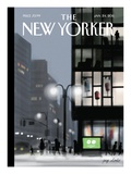 Fifth Avenue and Forty-second Street - The New Yorker Cover, January 24, 2011 Premium Giclee Print by Jorge Colombo