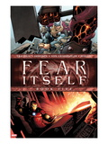 Fear Itself No.5 Cover: Iron Man and Thor Smashing Poster by Steve MCNiven