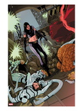 X-23 No.15 Cover: X-23, Mr. Fantastic, Spider-Man, Thing, Invisible Woman and Others Prints by Kalman Andrasofszky