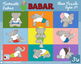 Yoga for Elephants - 36 Piece Floor Puzzle 36 piece Floor Puzzle Jigsaw Puzzle