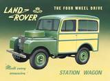 Land Rover Station Cartel de chapa