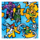 Marvel Super Hero Squad: Sentinel, Dr. Doom, Loki, Mystique, and Doctor Octopus Posing Art