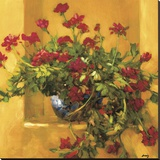 Ivy Geraniums Stretched Canvas Print by Philip Craig