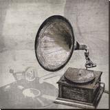 Grammaphone Stretched Canvas Print by Tandi Venter