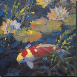 Water Garden II Stretched Canvas Print by Leif Ostlund